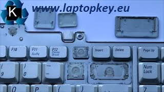 Instalation Guide how to install fix repair key in keyboard DELL Inspiron XPS 1720 1700 M1721