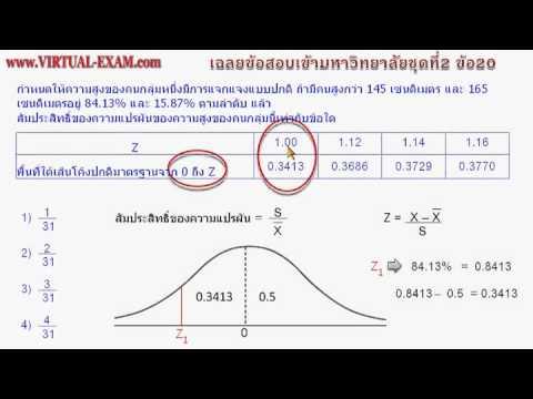 เฉลยข้อสอบคณิตศาสตร์ PAT1  ชุด 2 ข้อ 20
