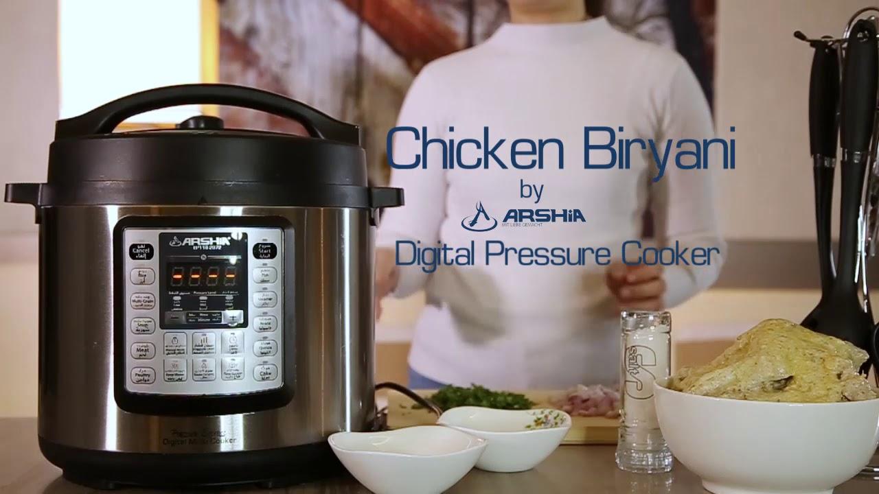 تطبيق البرياني في قدر الضغط الكهربائي الذكي من آرشيا Baryani In Arshia Electric Pressure Cooker Youtube