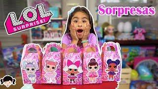 abriendo cajas sorpresa de las muñecas lol con muchos juguetes sorpresa