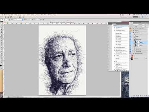 Scribble Pen Sketch Photoshop Action Tutorial thumbnail