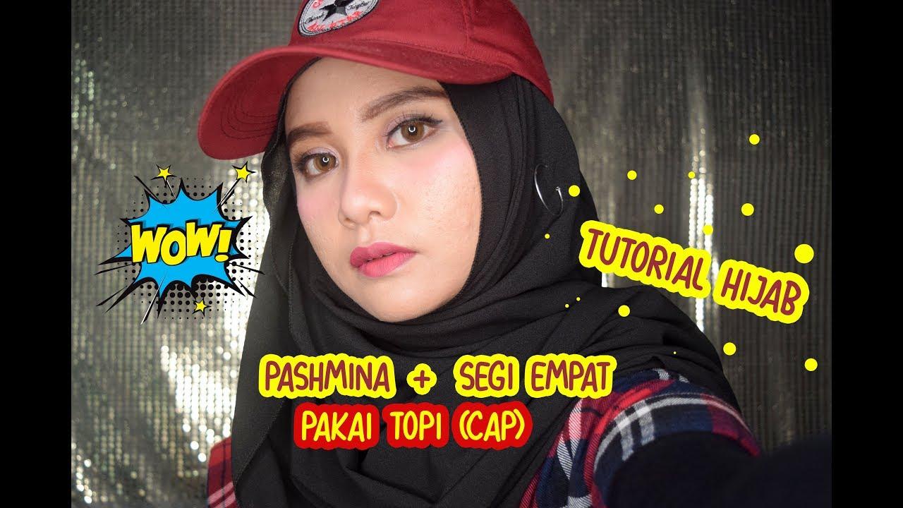 Simple Hijab Pashmina Dan Segi Empat Pakai Topi Tutorial Septyurinda Youtube