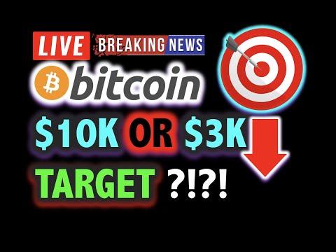 BITCOIN To $10K Or $3K?! PREPARE NOW! 💥WOW!😱 LIVE Crypto Analysis TA & BTC Cryptocurrency Price News