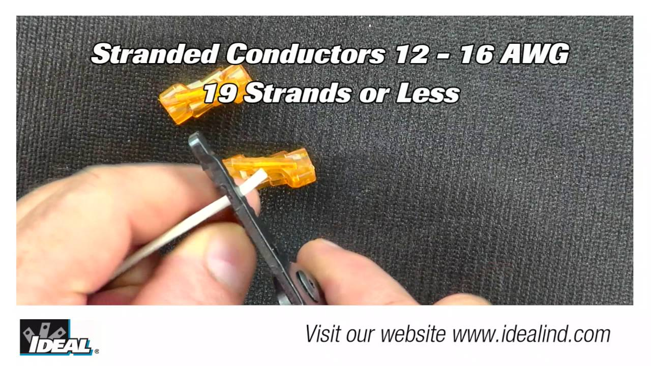 SpliceLine® In-Line Wire Connector - YouTube