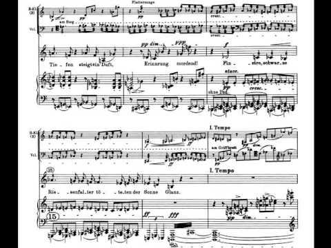 Schoenberg Pierrot Lunaire Op. 21. 8. Nacht. Partitura. Interpretación.