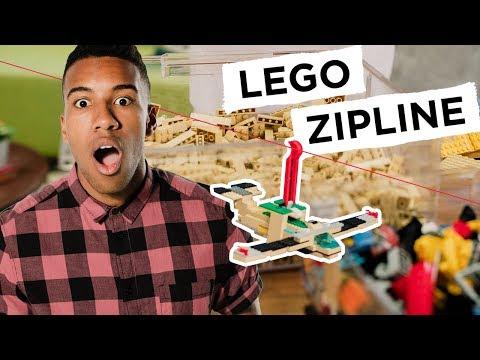 LEGO Zipline Test - REBRICKULOUS