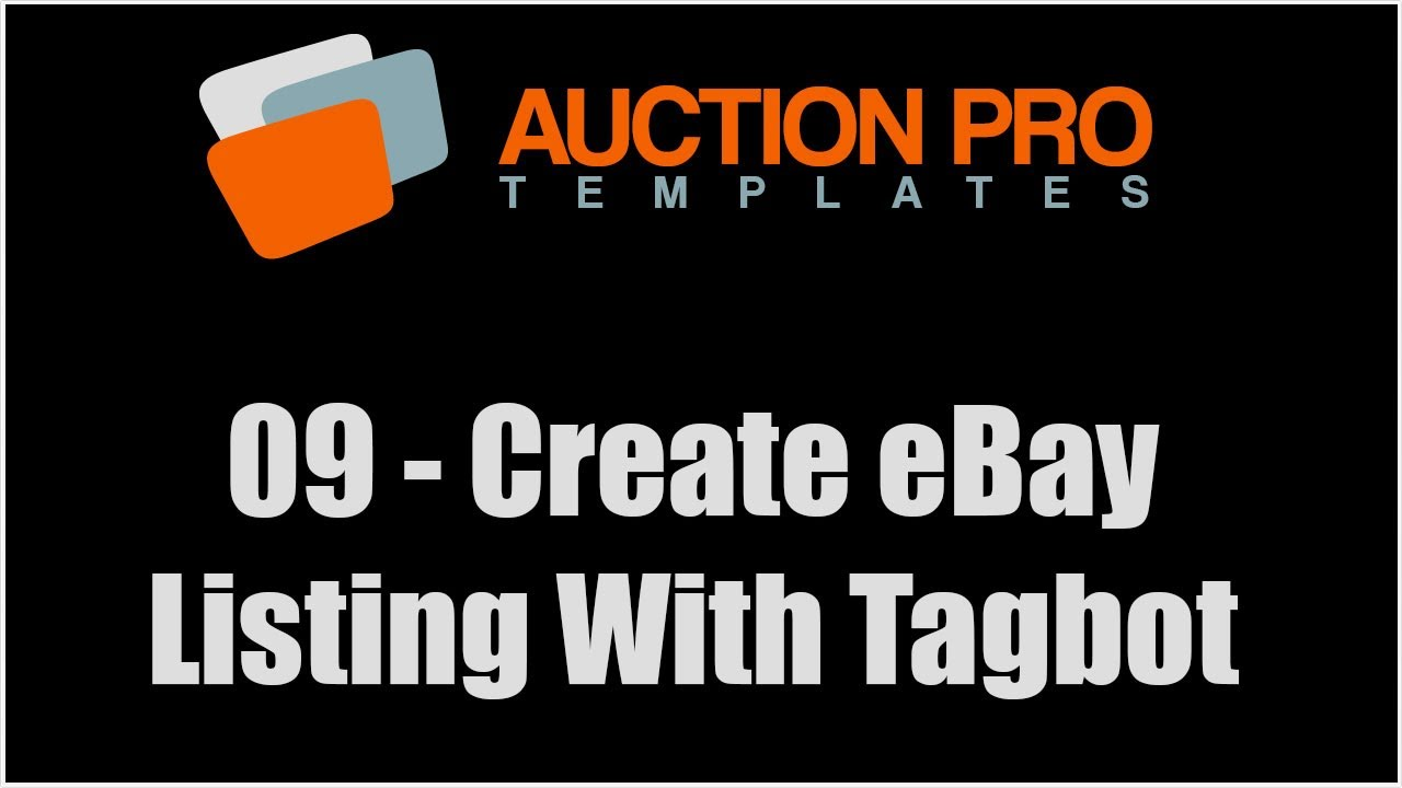 09 - How To Create eBay Listing Template Using Tagbot - YouTube