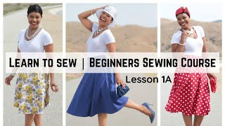 Beginners Sewing Course - Project 1 - Circle Skirt Part 1