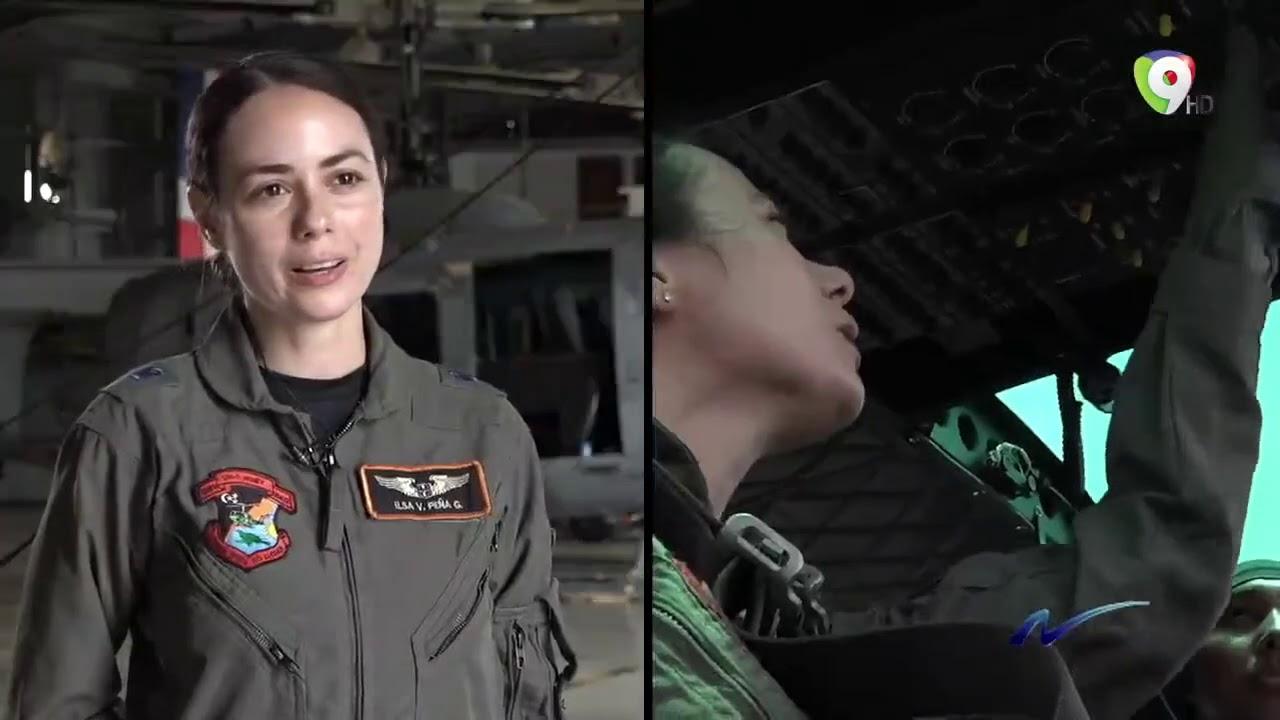 Mujeres Pilotos ejemplos en la Fuerza Aérea Dominicana - Nuria Piera