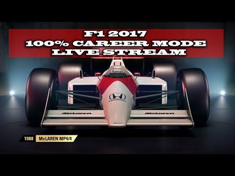 Gaming : F1 2017 / 100 % Career Mode Bahrain !!! (Live Stream)