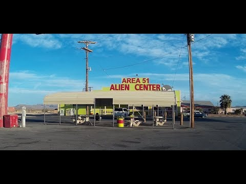 Arriving at Area 51 Alien Center - Nevada