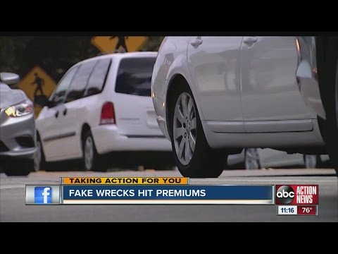 Fake crashes lead to big claims, higher premiums
