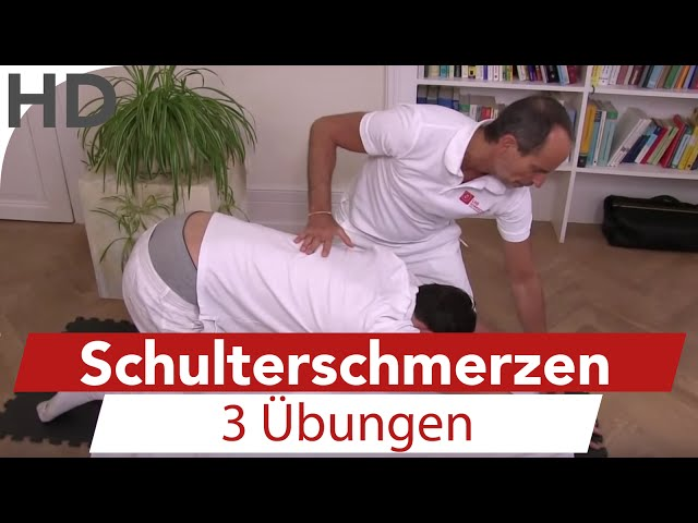 Übungen gegen Schulterschmerzen / Faszien / Training / Faszientraining / Schmerzen in der Schulter