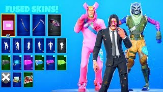 How to UNMASK + FUSE skins..! (NEW Glitch) Fortnite Battle Royale