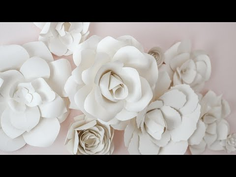 DIY Giant Paper Rose How To Tutorial | Paper Flower Backdrop for Wedding/Events