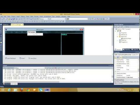 How to make a media player using visual studio- part 1 (with source code)