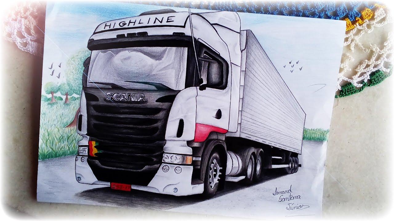 Desenho Da Scania Highline 11 By Isnard Scania Highline