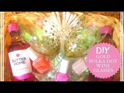Diy Gold Polka Dot Glasses Youtube