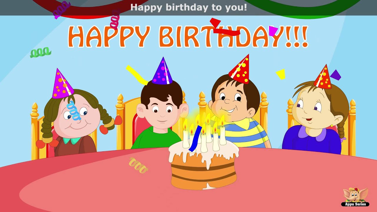 Happy Birthday To You Song - YouTube
