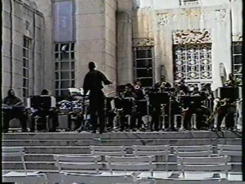 Gerardo Davila on sax  in the TSU Big Band . 1996