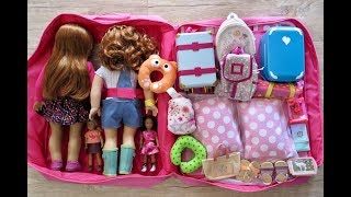 How TO TRAVEL WITH YOUR TWIN AMERICAN GIRL DOLLS TWO NIGHT VACATION STAY