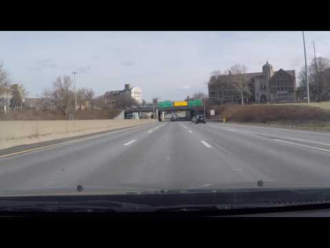 Driving I-90 East to Downtown Cleveland(2-24-17)