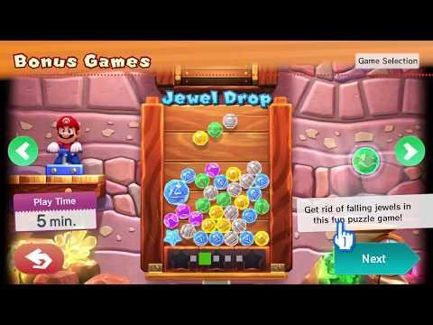 MARIO PARTY 10 ~ BONUS GAMES ~ JEWEL DROP ~ SINGLE PLAYER ~ AS WARIO - NO COMMENTARY