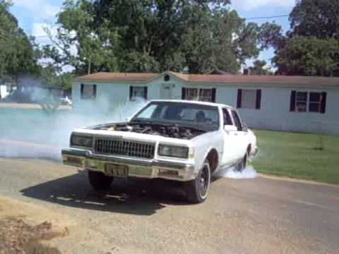 box chevy burnout. testin and tuning