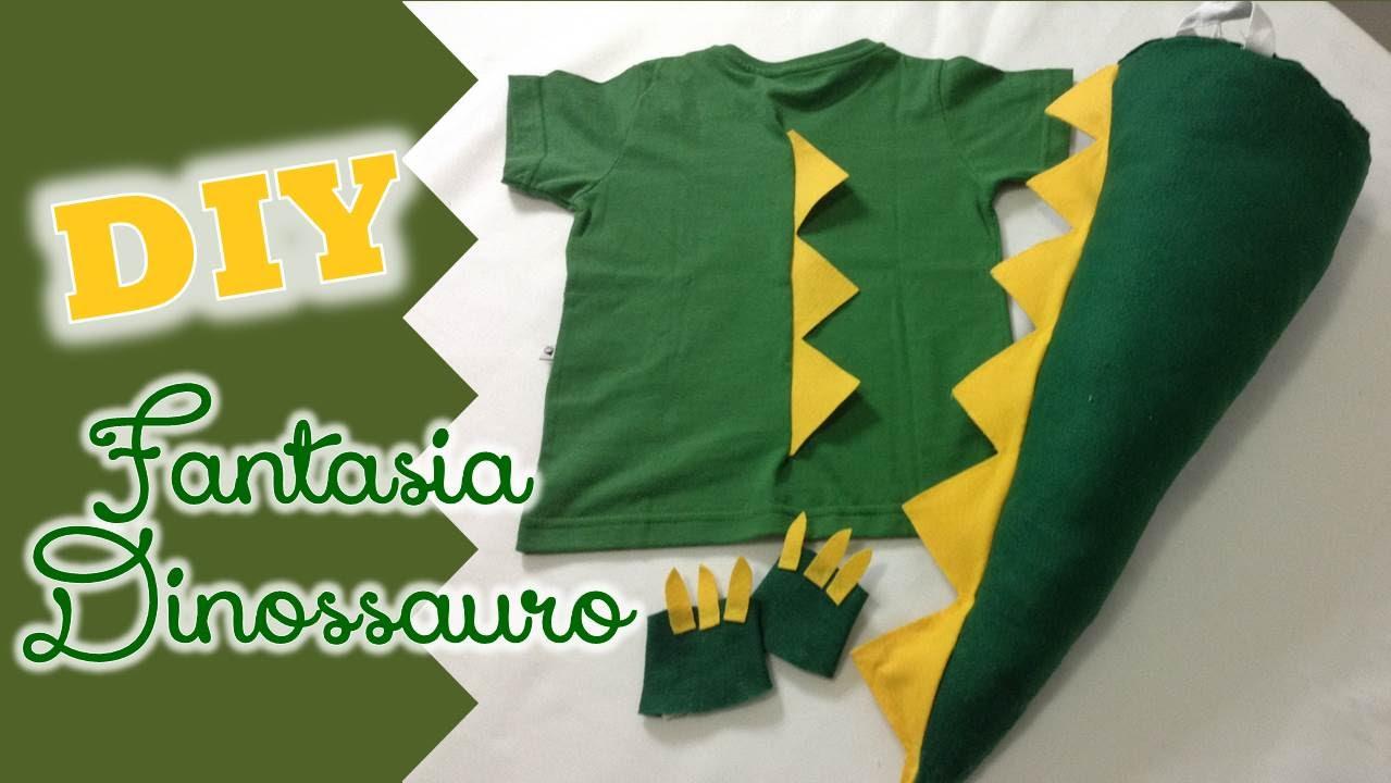 b6d2a8964 DIY  Fantasia de dinossauro