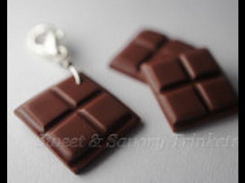 Polymer Clay Candy Bar Miniature chocolate tutorial, polymer clay food ...