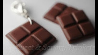 Miniature Chocolate Tutorial, Polymer Clay Food Tutorial
