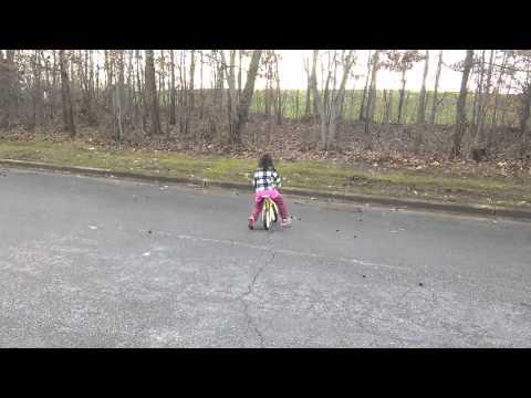 Kharlyn practicing her balancing