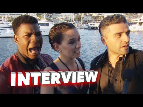 Star Wars: The Force Awakens: John Boyega, Daisy Ridley & Oscar Isaac Comic Con Interview
