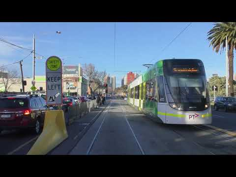 2017 Melbourne Tram Route 96 Driver View Winter AM Peak Service