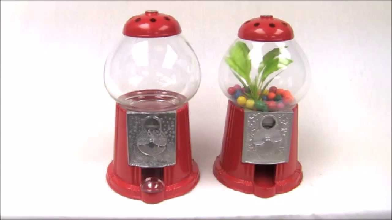 Antique style aquarium gumball machine fishbowl youtube for Gumball fish tank
