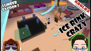 Roblox - Lumber Tycoon 2 - Ice Rink Building :D