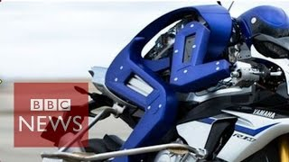 Yamaha robot rides high-speed racing motorcycle - BBC News