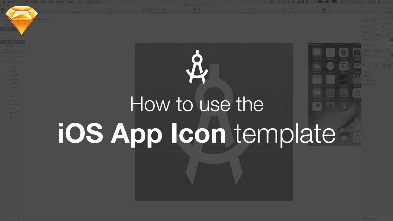 How To Use The Ios App Icon Template For Sketch Youtube
