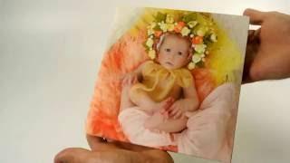 Милая детская фотокнига 20х20(Сделали чудесную детскую книжку. Премиум, фотообложка, 12 разворотов, обложка- ламинация велюр, Фотобумага..., 2016-07-29T15:51:58.000Z)