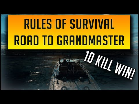 RULES OF SURVIVAL ROAD TO GRANDMASTER | GETTING THE 10 KILL WIN