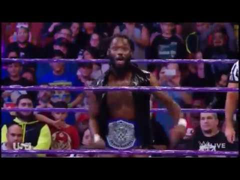 Rich Swann entrance as WWE Cruiserweight Champion