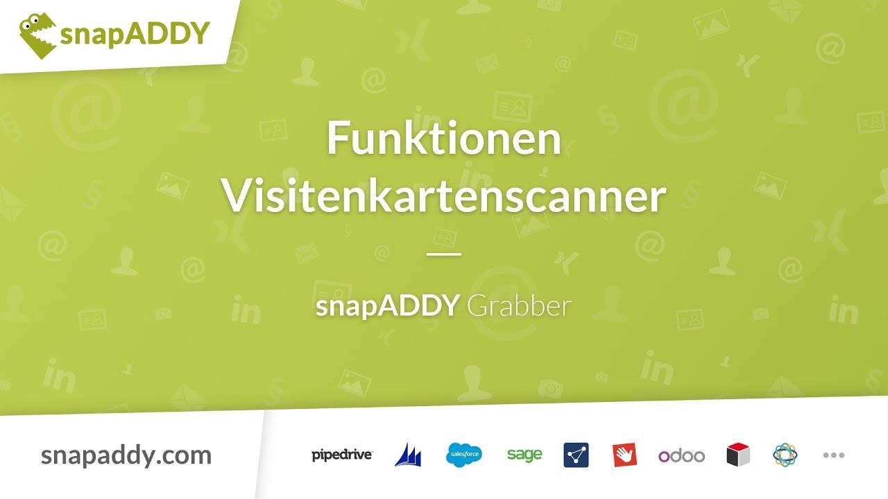 Snapaddy Grabber Funktionen Visitenkartenscanner