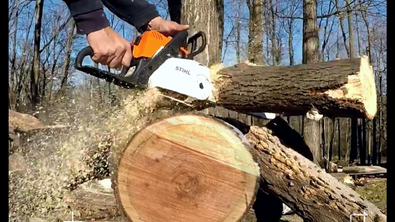 Best Stihl Chainsaw >> STIHL Chainsaw MS 180 cbe CUTTING! - YouTube