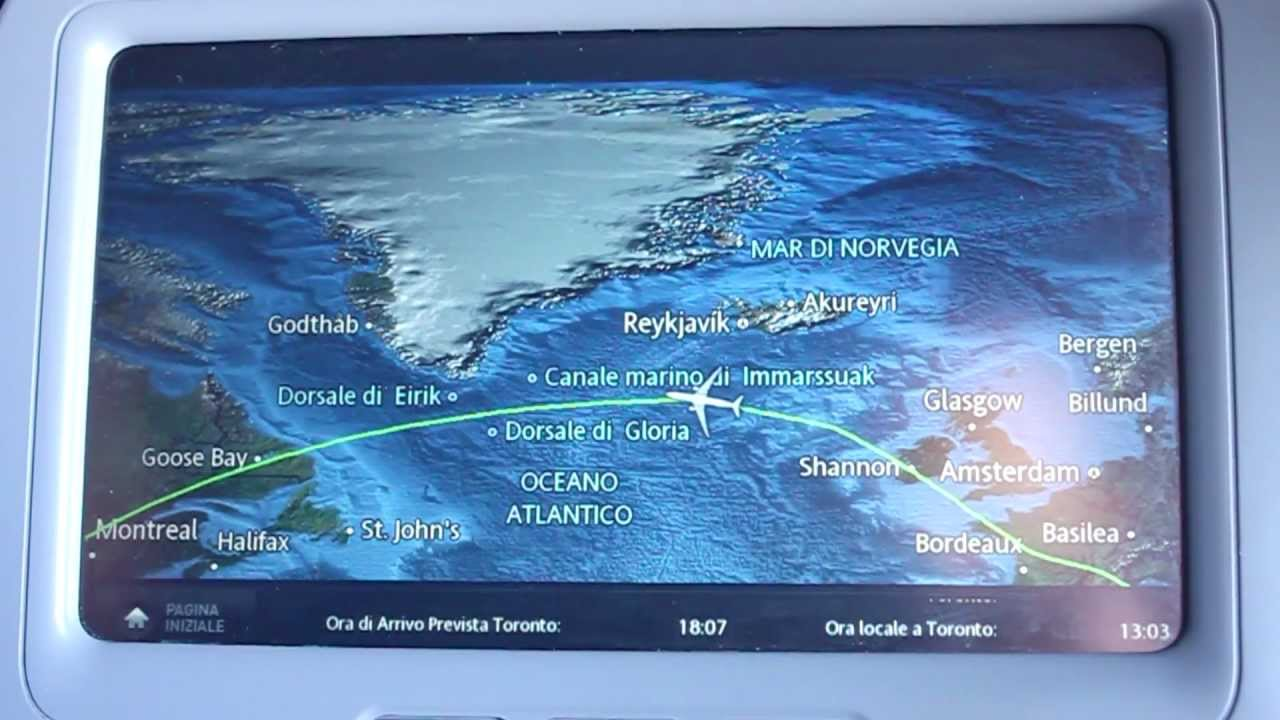 Inflight moving map aboard air transat a330 youtube for Avion air transat interieur