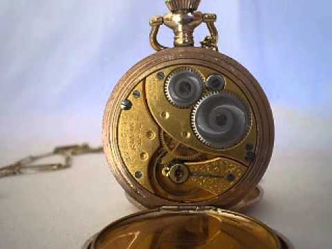 1914 Elgin Pocketwatch Goldplated 7 Jewels Hunting Case