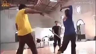 Prabhas  Anushka Pranushka #sword practice