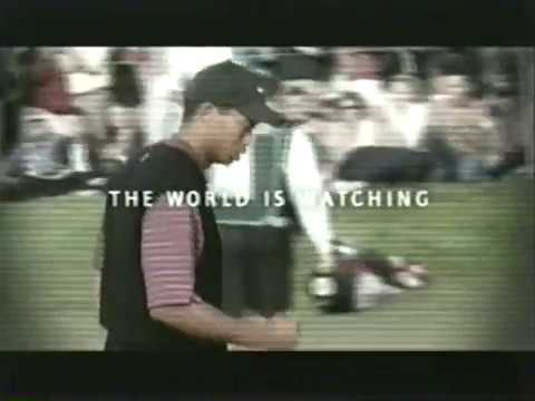 astronaut tiger woods golf commercial