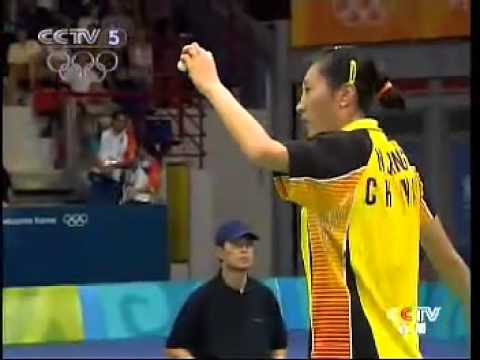 2004 Athens Olympic Badminton WS Final - Zhang Ning[CHN] Vs Mia Audina[NED]