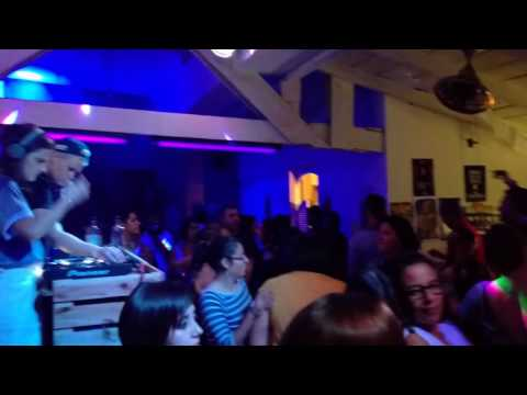 Daniela Sea and DJ Gunn Lundemo at Frida's Attic Bar in Antigua Pt 1.