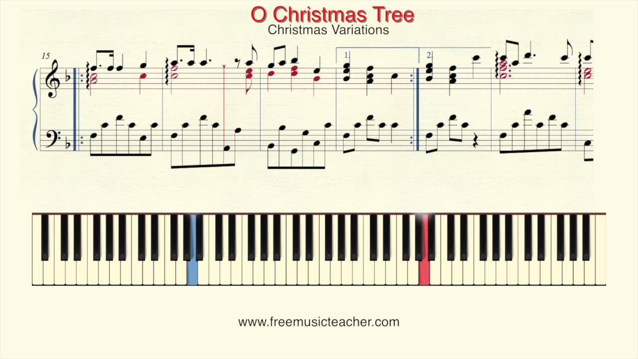 How To Play Piano:Christmas Variations \